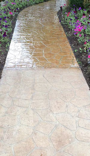 Pressure Washing Stamped Concrete