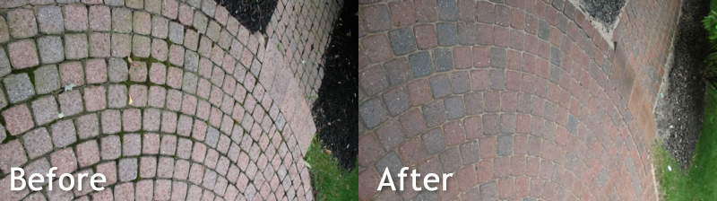 Hire a Pressure Washing Professional to Clean Brick Walkways